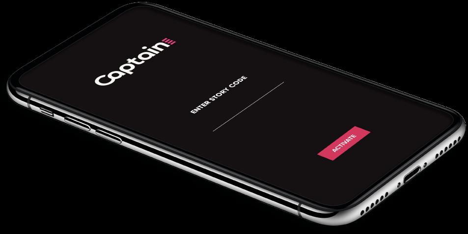 Captain app on an iphone
