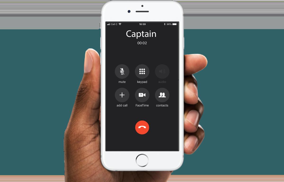 Captain phone call